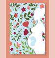 pregnant woman cover floral design vector image vector image
