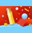 realistic abstract scene with spray bottle vector image vector image