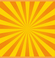 retro ray orange background in vintage style vector image vector image