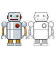 Robot toy vector image