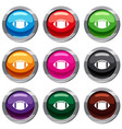 rugby ball set 9 collection vector image vector image