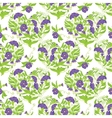 Seamless pattern - Convolvulus Flowers hearts on vector image