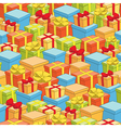 seamless pattern of boxes with gifts - holiday vector image vector image