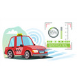 self driving car taxi technology concept vector image