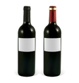 Set realistic bottle of red wine vector image vector image