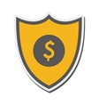 Shield dollar sign icon vector image