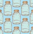 Sketch jar with cork in vintage style vector image