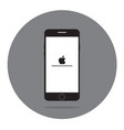 smartphone flat icon in iphone style vector image