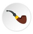 smoking pipe icon circle vector image vector image