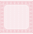 square pink background with decorative ornaments vector image vector image