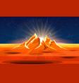 sunrise on planet landscape vector image vector image