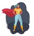 superhero woman wearing superhero costume vector image
