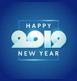 text design of happy new year 2019 vector image vector image