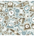 time - seamless background vector image vector image