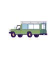 tour truck semi flat rgb color vector image
