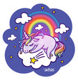 unicorn sleeping vector image