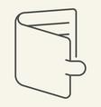 wallet thin line icon purse vector image