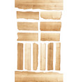 wood plank isolated on white background vector image vector image