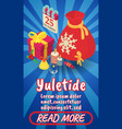yuletide concept banner comics isometric style vector image vector image