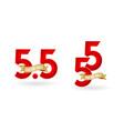44 sale55 mega sale 55 online sale vector image vector image