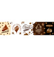 a set creative chocolate logos vector image