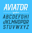aviator typeface modern style uppercase font vector image vector image