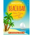 Beach Bar Poster vector image vector image