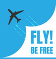 black and white plane icon isolated on blue vector image