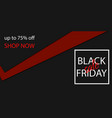 black friday sale banner tag vector image