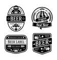 black monochrome beer labels different shapes vector image vector image