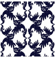 blue and white elegant seamless pattern vintage vector image