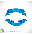 Blue Satin Ribbons vector image vector image