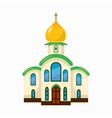 Building church icon cartoon style vector image vector image