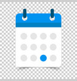 calendar agenda icon in flat style reminder on vector image vector image