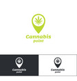 cannabis point logo vector image vector image