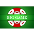 Casino chip background vector image