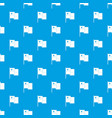 chile flag pattern seamless blue vector image vector image