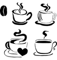 Coffee pattern with beans vector image vector image