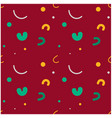 curvy kids funny seamless pattern vector image