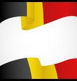 decoration of belgium insignia vector image vector image