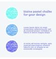 design elements pastel chalks vector image
