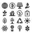 ecology icons set on white background vector image vector image