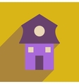 Flat web icon with long shadow house vector image vector image