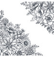 floral backgrounds with hand drawn flowers vector image vector image
