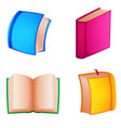 four book with different cover vector image vector image