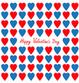 happy valentines day greeting card red and blue vector image vector image