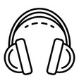 headset icon outline style vector image vector image