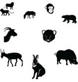 horserabbitgoatsaigapolar bearcheetah cubmonkeywil vector image