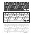 laptop keyboard set vector image
