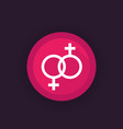 lesbian couple icon vector image